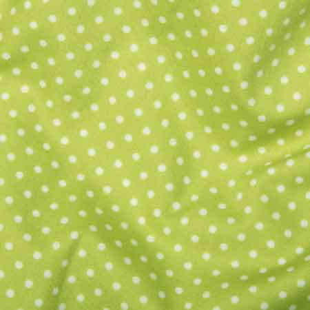 Cotton Poplin CP0009 3mm Lime Spot - The Fabric Bee