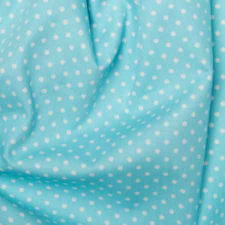 Cotton Poplin CP0009 3mm Sky Spot - The Fabric Bee