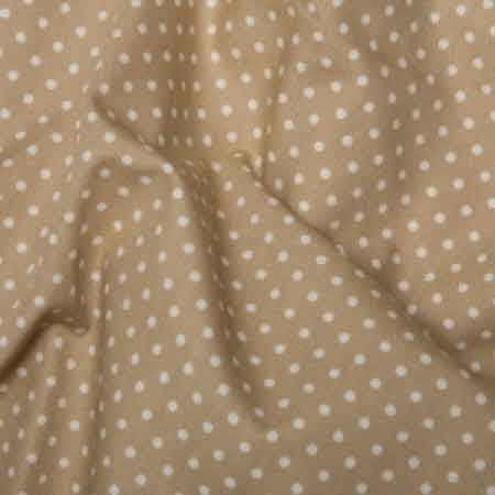 Cotton Poplin CP0009 3mm Tan Spot - The Fabric Bee