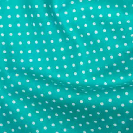 Cotton Poplin CP0009 3mm Turquoise Spot - The Fabric Bee