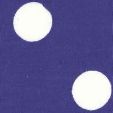 Cotton Poplin CP0076 22mm Royal Spot - The Fabric Bee