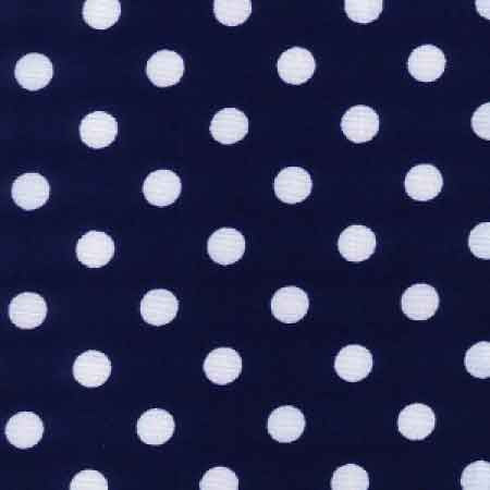 Cotton Poplin CP0078 7mm Navy Spot
