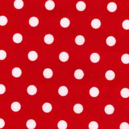 Cotton Poplin CP0078 7mm Red Spot