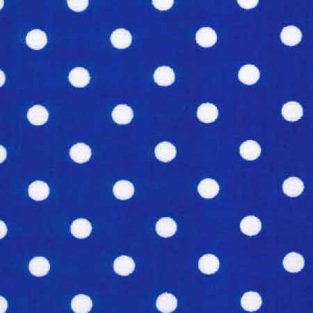 Cotton Poplin CP0078 7mm Royal Spot - The Fabric Bee