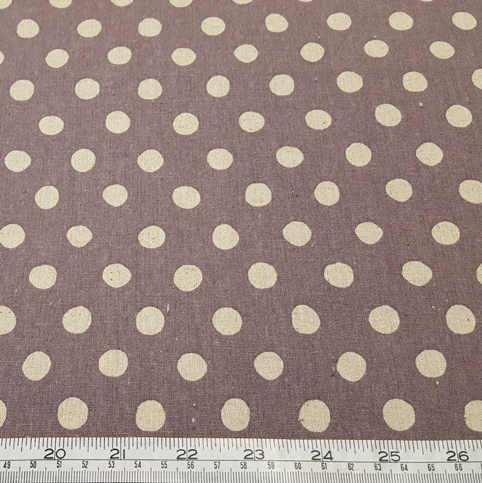 Sevenberry Cotton/Flax Blend - Spots 88185D2-6 Dusky Mauve - The Fabric Bee