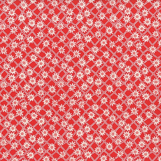Red Floral fabric, moda fabric, moda patchwork fabric