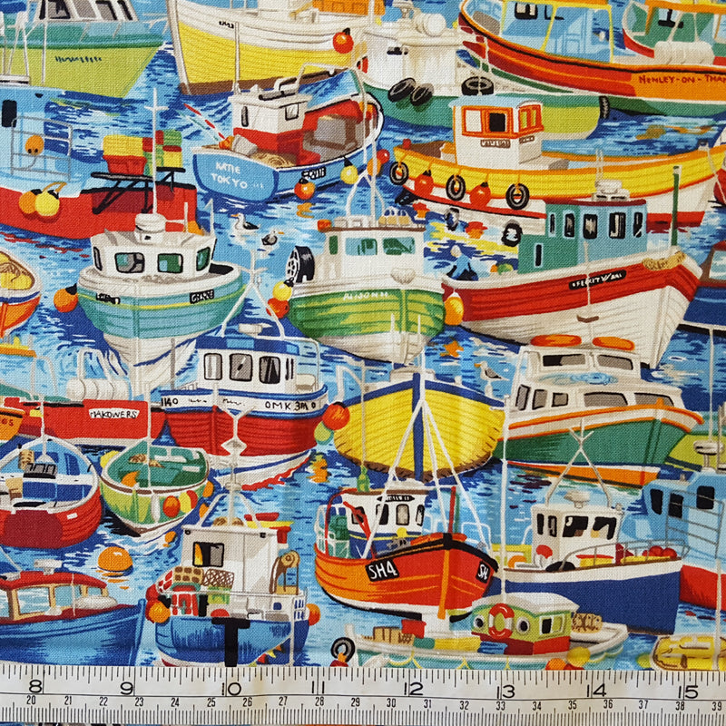 Makower UK Seaside Fishing Boats F5001