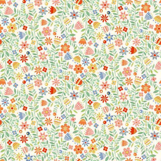 Crafty Cats Flowers Cream F5617
