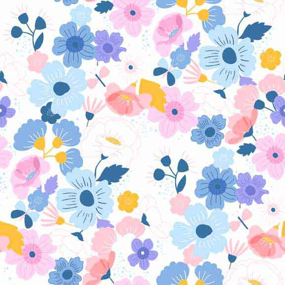 Makower UK Floral Splendor 8375B F5694 - The Fabric Bee
