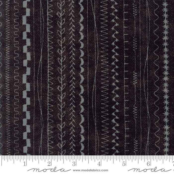 Moda Maven patch working and quilting fabric collection in basic grey stripe