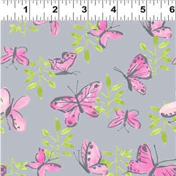 Flutter by Clothworks Grey 21186.6 F5934 - The Fabric Bee