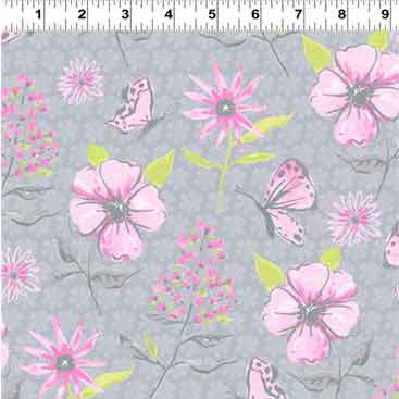 Flutter by Clothworks Grey 2117.6 F5935 - The Fabric Bee