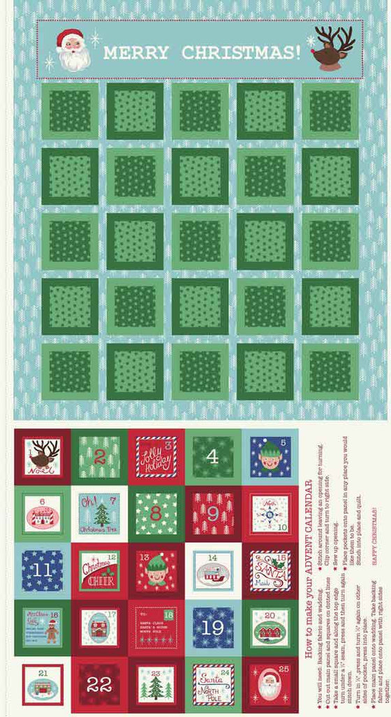 Lewis and Irene North Pole Advent Calendar F6044 - The Fabric Bee