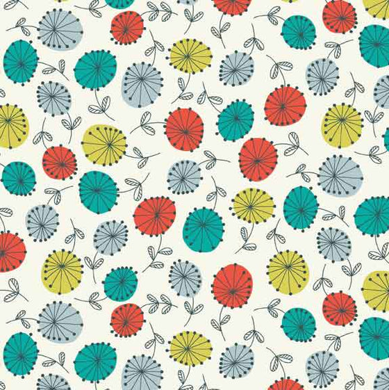 Makower UK Modern Retro 1843/T F6152 - The Fabric Bee