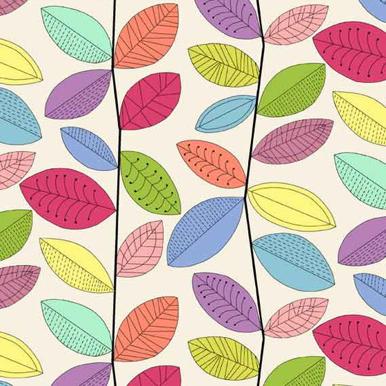 Uptown Rainbow Vines White 8663L F6289 - The Fabric Bee
