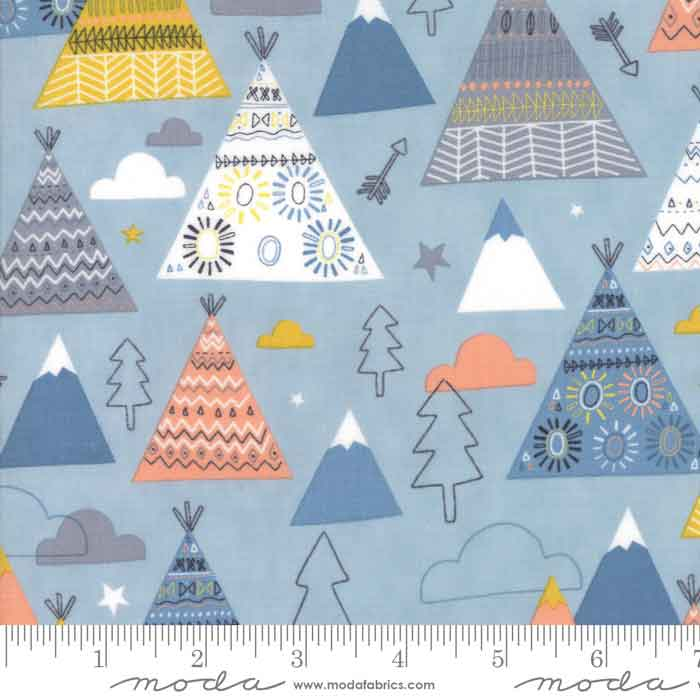 moda wild and free fabric collection by abi hall, childrens' fabric
