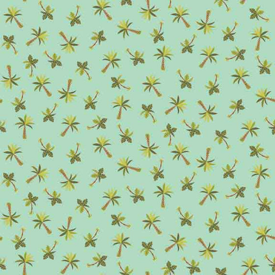 Makower UK Rex - Palm Tree Fabric - 1898/T F6426 - The Fabric Bee