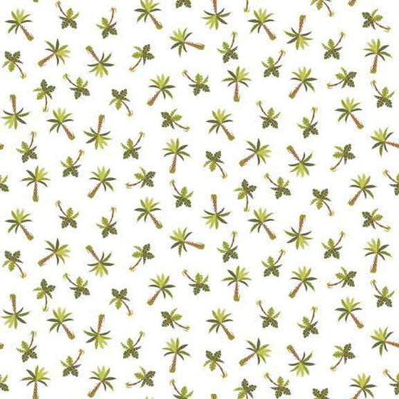 Makower UK Rex - Palm tree Fabric - 1898/Q F6428 - The Fabric Bee