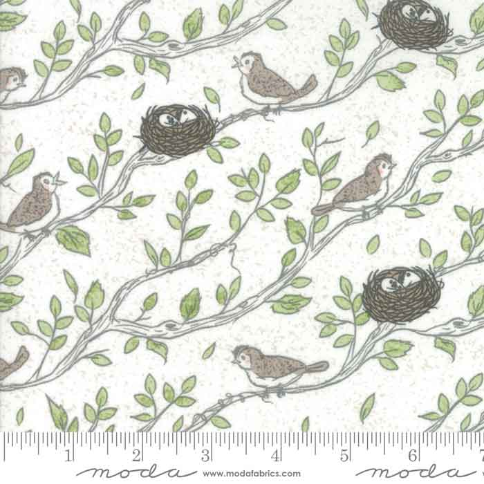 Bird nest fabric, cotton craft fabric, cotton patchwork material, dressmaking material