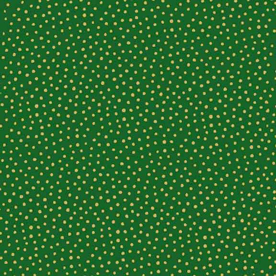 Makower UK Metallic Spot Green 1932/G F6525