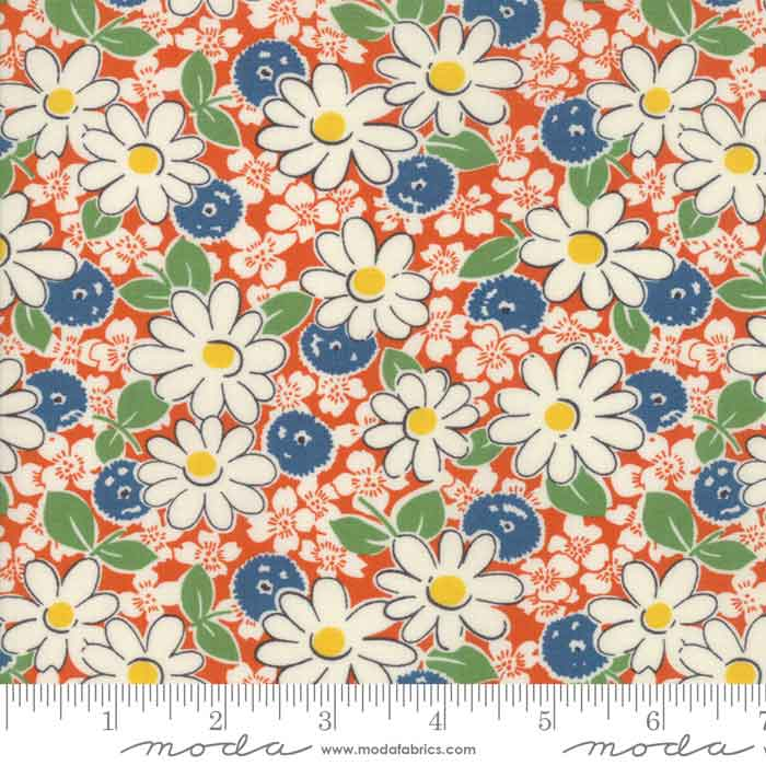 Play All Day by American Jane, Moda Fabric, Floral Material