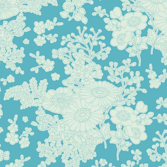Tilda Patchwork Fabric Sunkiss Imogen Teal F6606 - The Fabric Bee