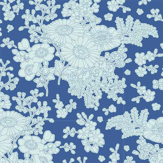 Tilda Patchwork Fabric Sunkiss Imogen Blue F6607 - The Fabric Bee