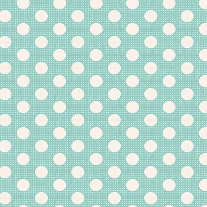 Tilda Patchwork Fabric Medium Dots Teal F6613 - The Fabric Bee