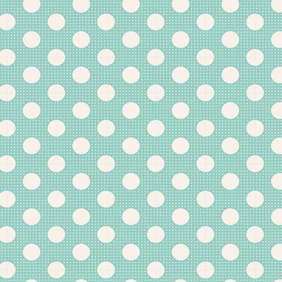 tilda fabric medium dots aqua