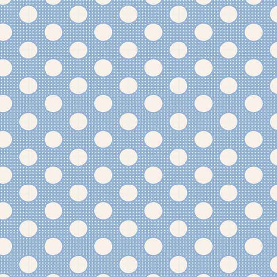 Tilda Patchwork Fabric Medium Dots Blue F6614 - The Fabric Bee