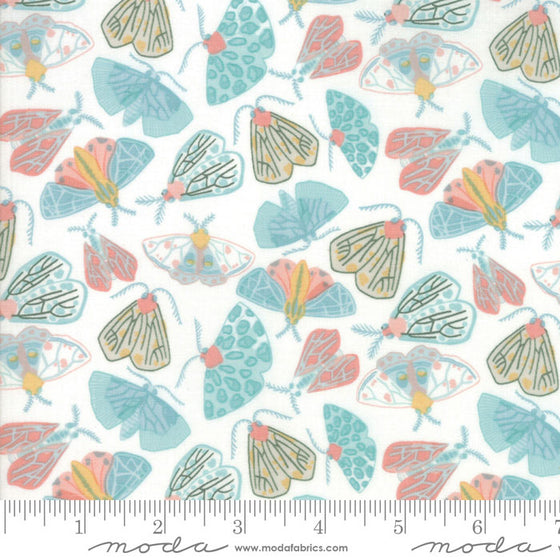 Moda Twilight by One Canoe Two, Moth Print Fabric