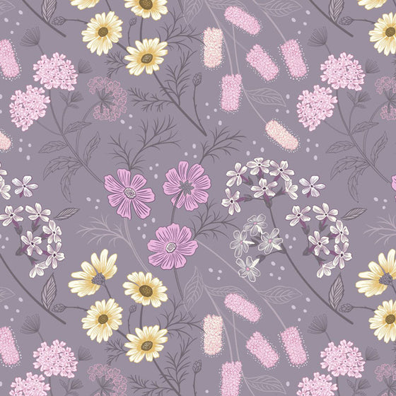 Lewis and Irene Botanic Garden A457.3 Floral on Warm Lilac F6726