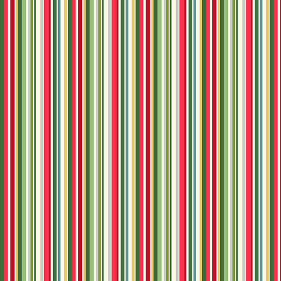 Makower UK 2203/G Yuletide Stripe F6758