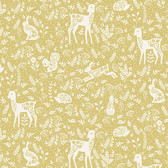Clara's Garden 2264/Y Animals on Yellow F6811