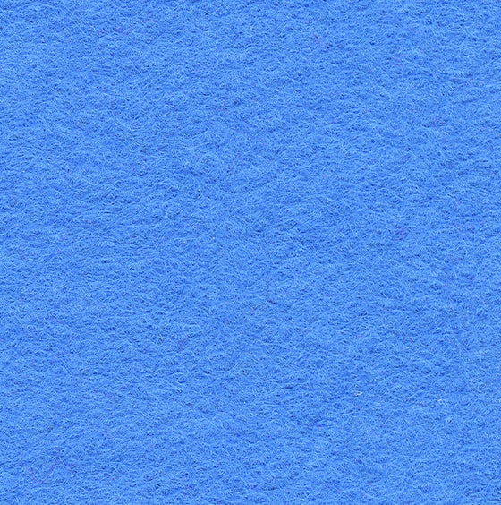 "Wool Mix Felt 9"" Square Mid Blue - The Fabric Bee"