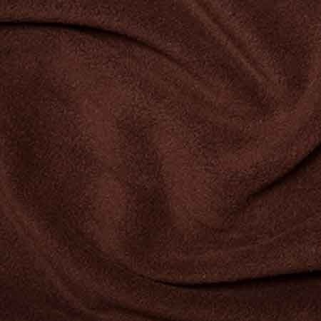 Brown Polyester Fleece - The Fabric Bee