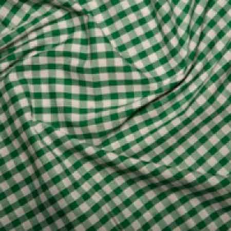 Polyester/cotton Woven Gingham 1/4 Inch Green