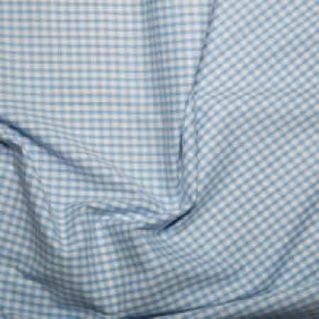 Polyester/cotton Woven Gingham 1/8th Inch Pale Blue