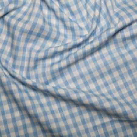 Polyester/cotton Woven Gingham 1/4 Inch Pale Blue