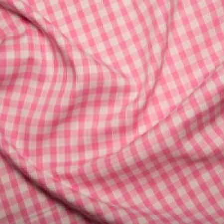 Polyester/cotton Woven Gingham 1/4 Inch Pink - The Fabric Bee
