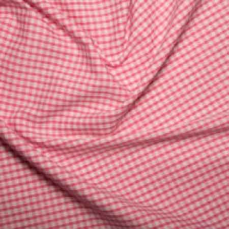 Polyester/cotton Woven Gingham 1/8th Inch Pink