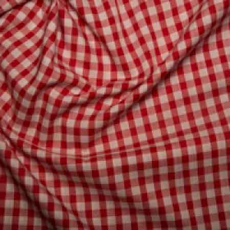 Polyester/cotton Woven Gingham 1/4 Inch Red