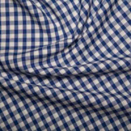 Polyester/cotton Woven Gingham 1/4 Inch Royal