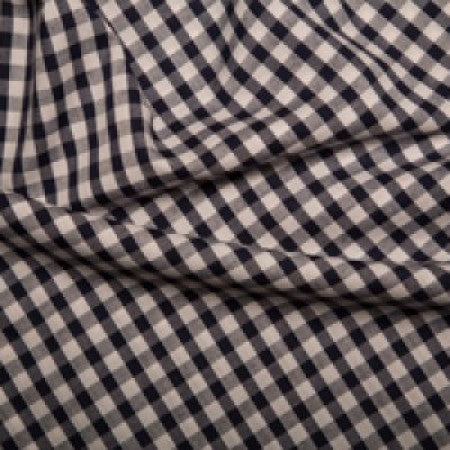 Polyester/cotton Woven Gingham 1/4 Inch Navy - The Fabric Bee