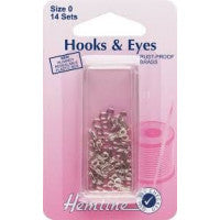 Hooks and Eyes Size 0 H400.0 - The Fabric Bee