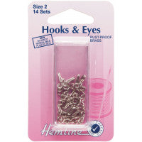Hooks and Eyes Silver Size 2 H400.2