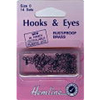 Hooks and Eyes Black Size 0 H400.0 - The Fabric Bee