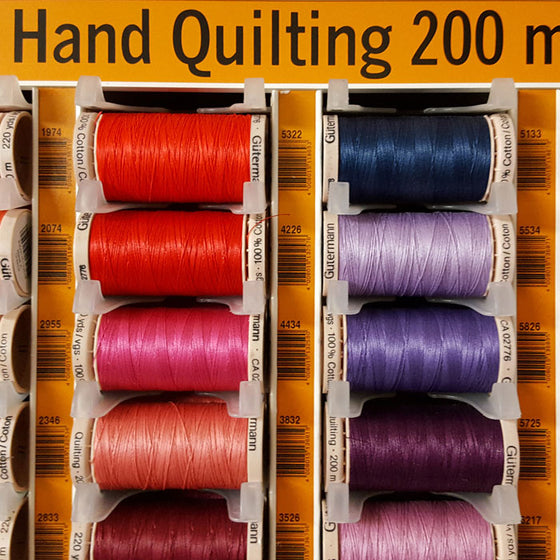 A Thread to Match your Fabric Order: Gutermann Hand Quilting Thread - The Fabric Bee
