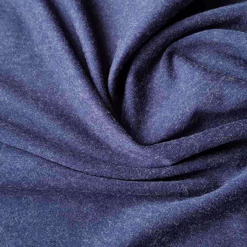 Jersey Fabric Plain French Navy with Wool - The Fabric Bee
