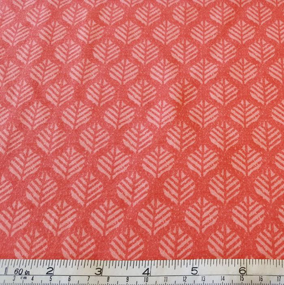 Jersey/Stretch Fabric Coral Leaf Design - The Fabric Bee